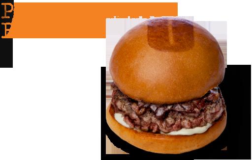 Port & stilton burger