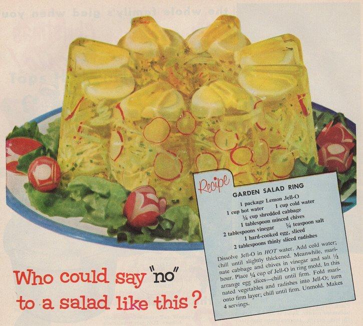 Garden salad ring